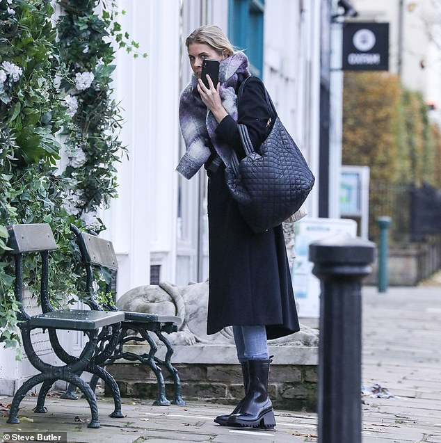 Outing:The TV presenter's shopping trip came with one day to go until the second national lockdown comes into force on Thursday, which is set to last for four weeks