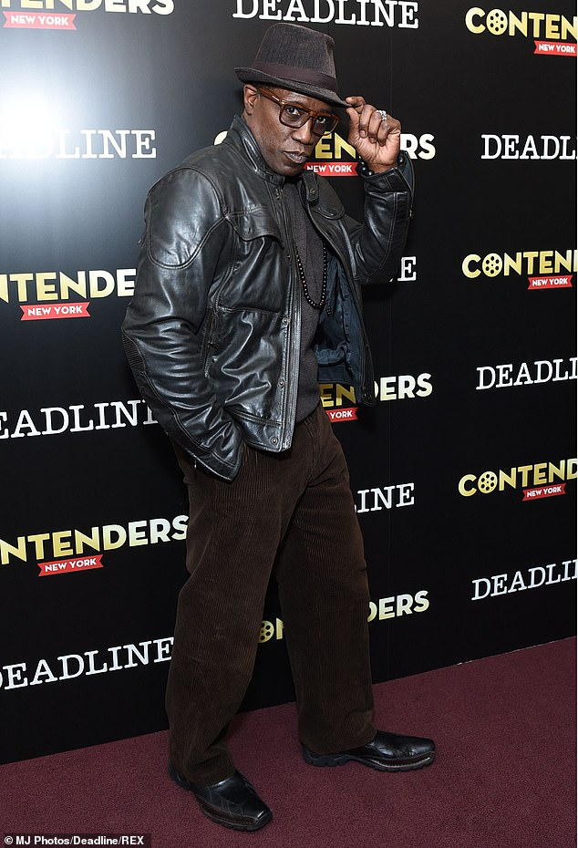 Denial: Wesley Snipes has addressed Patton Oswalt's 2012 claim he 'tried to strangle' his Blade: Trinity director. Snipes seen here in 2019