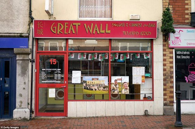 Can't wait! A Chinese takeaway restaurant also had a banner which had the show's title written atop a picture of the castle