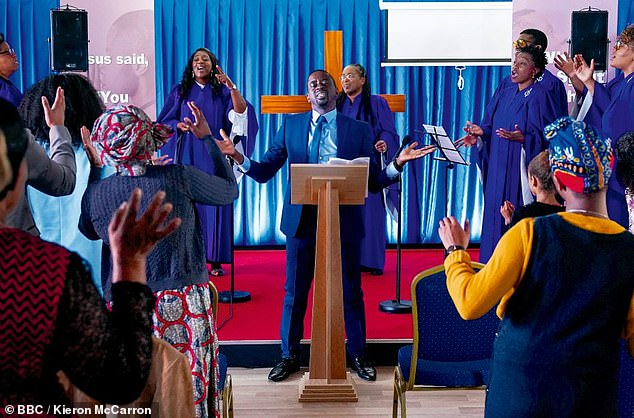 Denise pursues leads at the Pentecostal church to get closer to Raymond in EastEnders