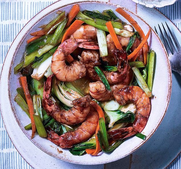Cinnamon prawns (pictured) sounds almost too good to be true, but Slimming World have included them in their menu