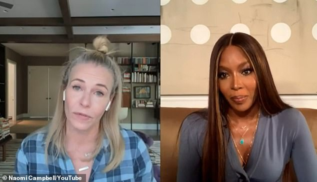 Reflection: Chelsea told Naomi Campbell that Trump's victory 'was clearly a trigger for me as it represented the other time my life went wrong'