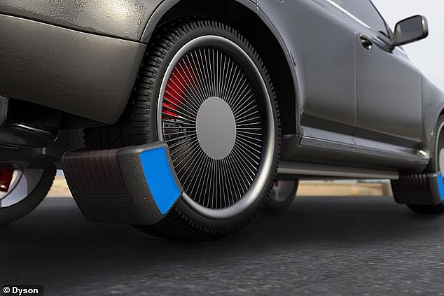 This device won a Dyson award. It collects tyre rubber emissions so they are not released into the atmosphere