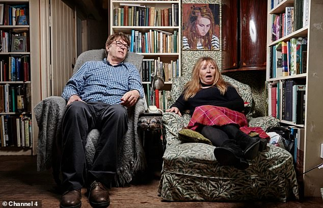 Oh dear: Gogglebox was hit with 10 more Ofcom complaints after viewers complained about Giles' comments over Strictly Bill Bailey's dance moves (Giles and Mary pictured on the show)