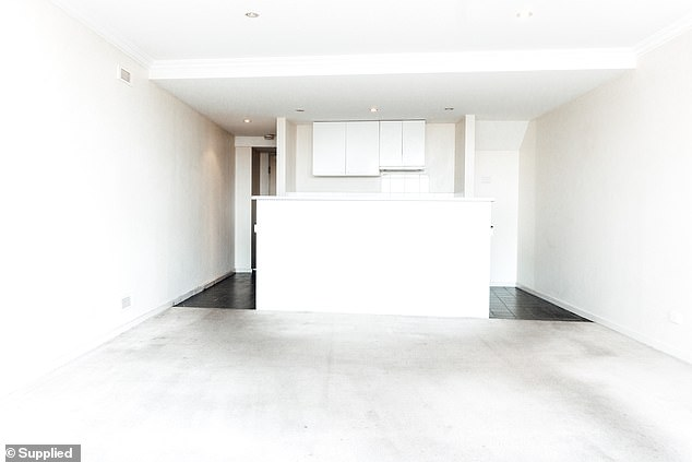 BEFORE:Jasmine Janabi, 29, said her mother-in-law has had the apartment for around 17 years, but it was only recently rented out to the 29-year-old and her partner recently