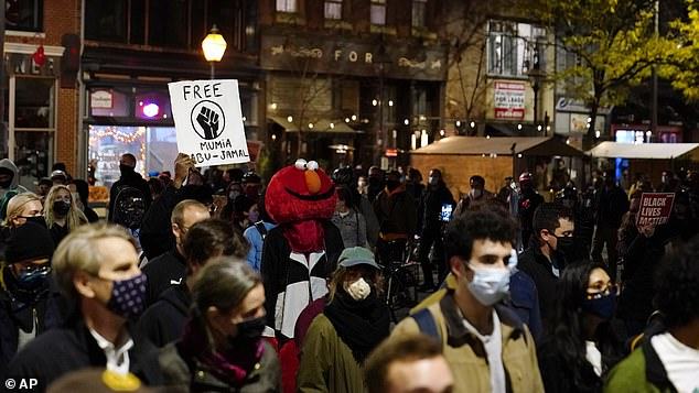 Demonstrators march to urge that all votes be counted in Philadelphia