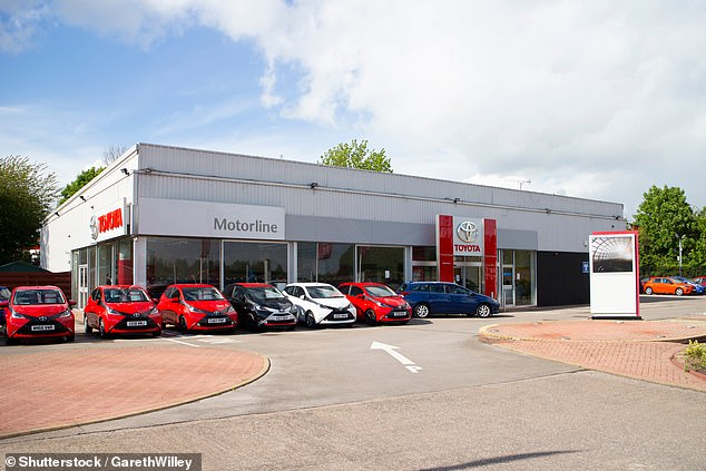 October sales slipped by 1.6%. In Wales alone, registrations fell by a quarter as dealers - including Motorline Toyota in Newport (pictured) - closed their showrooms for the 'firebreak' lockdown from 6pm on Friday 23 October