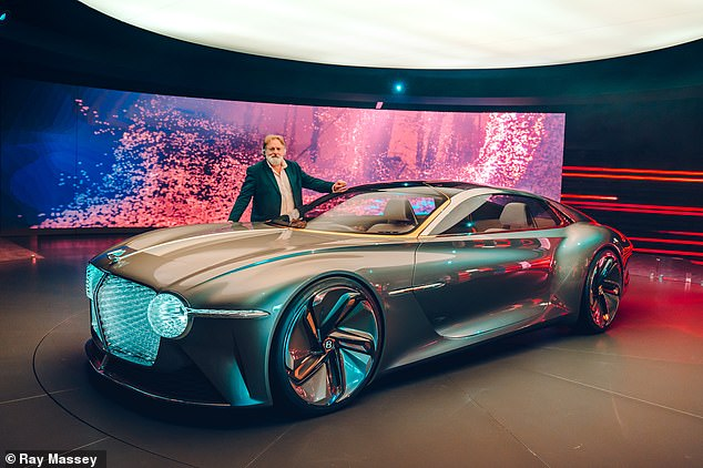 Bentley described the electric-powered coupe as a 'fully-autonomous car that can be driven when one wishes to enjoy the thrill of driving'