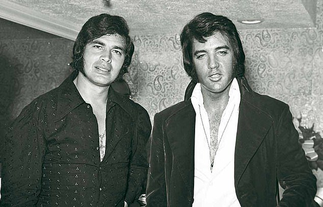 1974: Elvis once said I reminded him of the twin brother he'd lost at birth, and you can see why. We look very similar in this photo, although I was the first to grow sideburns. We first met in 1967 when he came to one of my shows in Las Vegas, and became friends. He didn't take himself too seriously and was always making fun of himself. I saw him six months before he died when he was in poor health. I wish I'd been able to talk to him frankly. I don't think the people around him gave him good advice