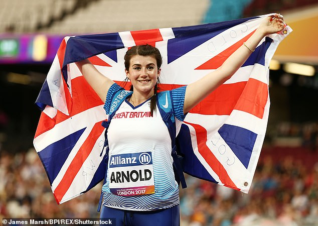 Sports star: Para-athlete Holly Arnold reportedly earns £ 50,000 for her appearance