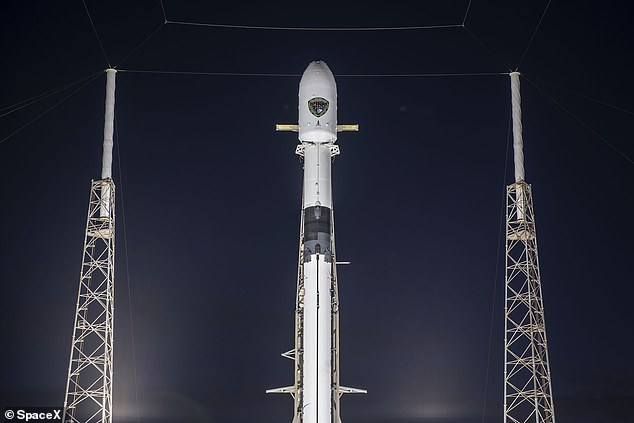 The rocket took off at 6:24pm ET, marking the firm's third GPS launch