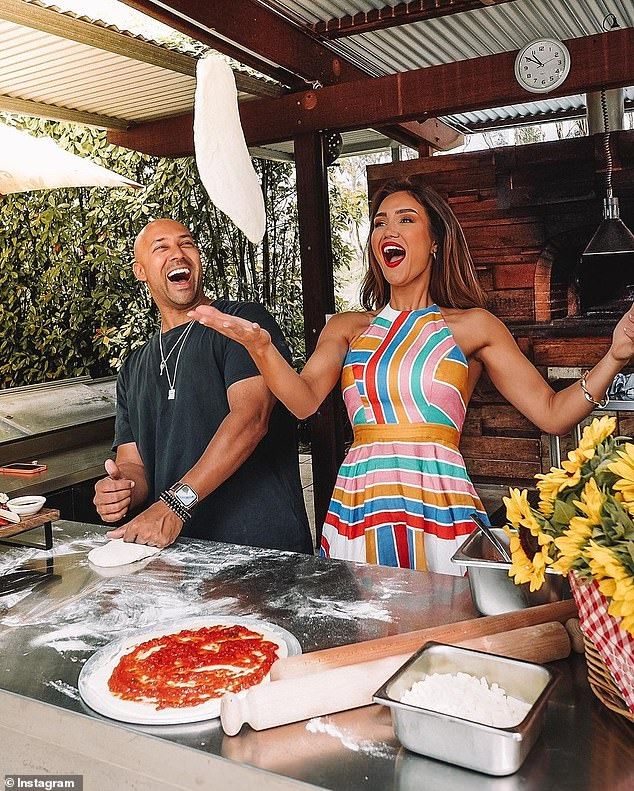 Continuing with the Italian theme, the couple also made pizzas at Golding Wines in the Adelaide Hills