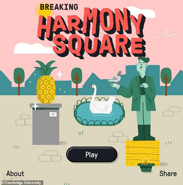 Cambridge University researchers created 'Breaking Harmony Square' in partnership with the US Department of State and the Department of Homeland Security