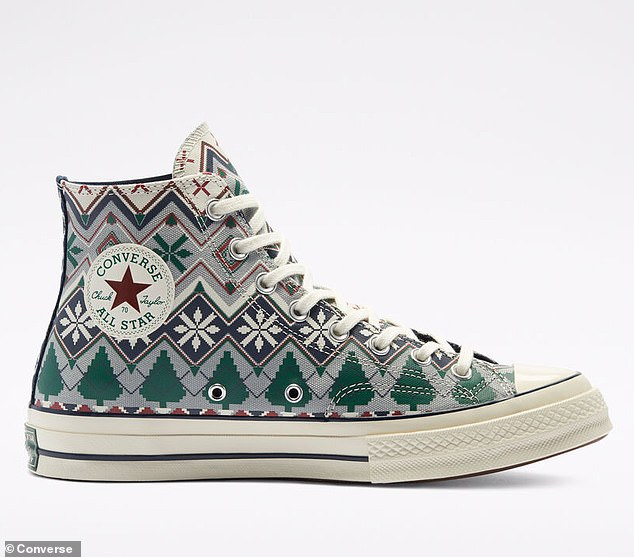 Get your kicks:The Chuck 70 (high top and low top) is dressed up for the season in two different fair isle prints