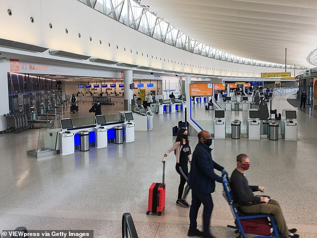 The governor announced the new travel rules Saturday to take effect from Wednesday providing a more amenable alternative to the previous rule of a two-week mandatory quarantine for all travelers from hotspot states. Travelers at JFK Airport