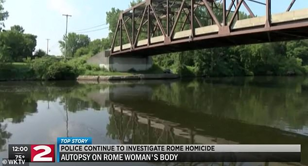 The gun used in the killing was fished out of Rome's Barge Canal