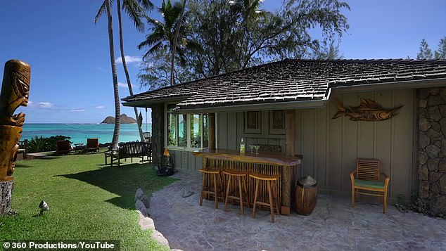 He is spending at least $400,000 to turn the 1935 timber bungalow (pictured) into a coastal oasis worthy of his exacting standards