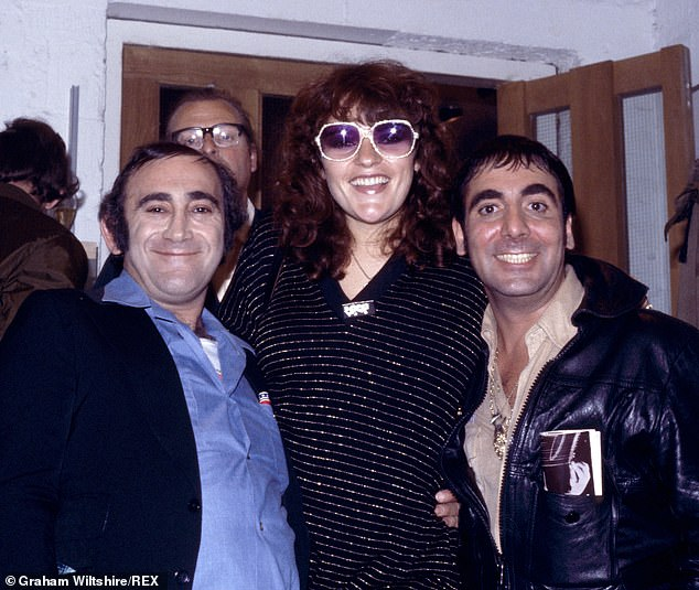 Pictured:Lionel Bart, Dana Gillespie and Keith Moon 'Who's Who' exhibition at the Institute of Contemporary Arts, London, August 1, 1978