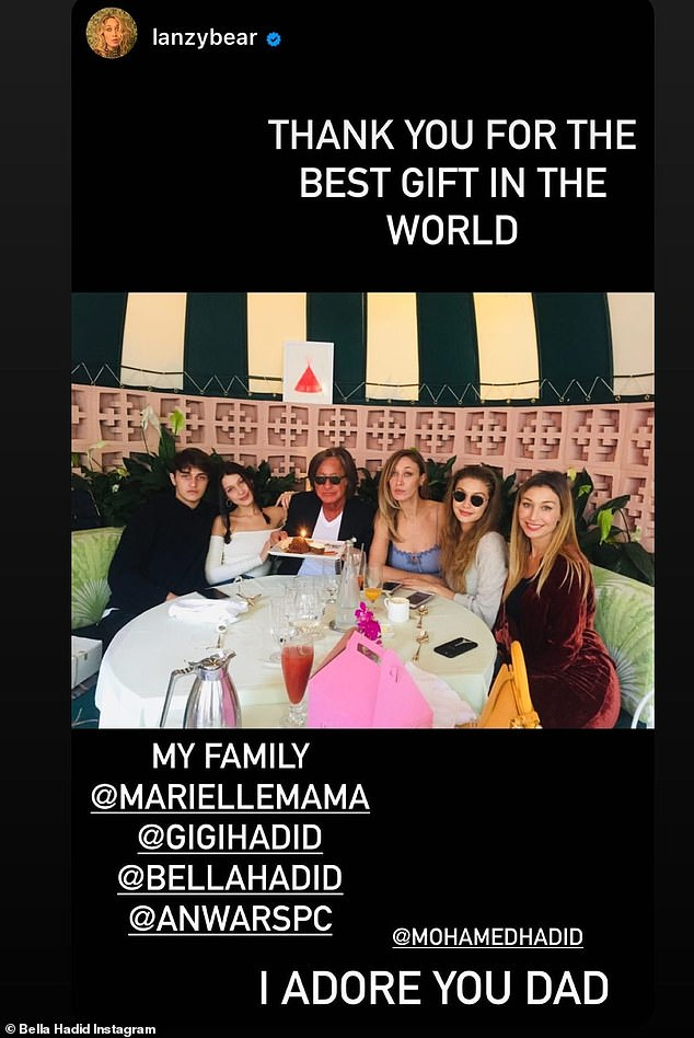 The whole gang: The sister of Gigi Hadid also reposted a throwback photo from Alana's account that showed another birthday get-together from years earlier with all the children