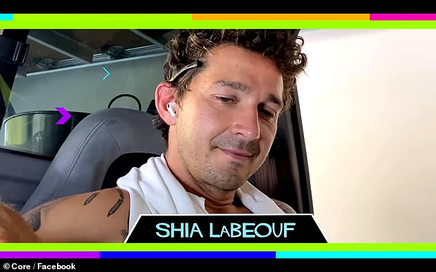 Good work!Shia has was last seen in a reading of 1982's Fast Times At Ridgemont High with Brad Pitt and Jennifer Aniston