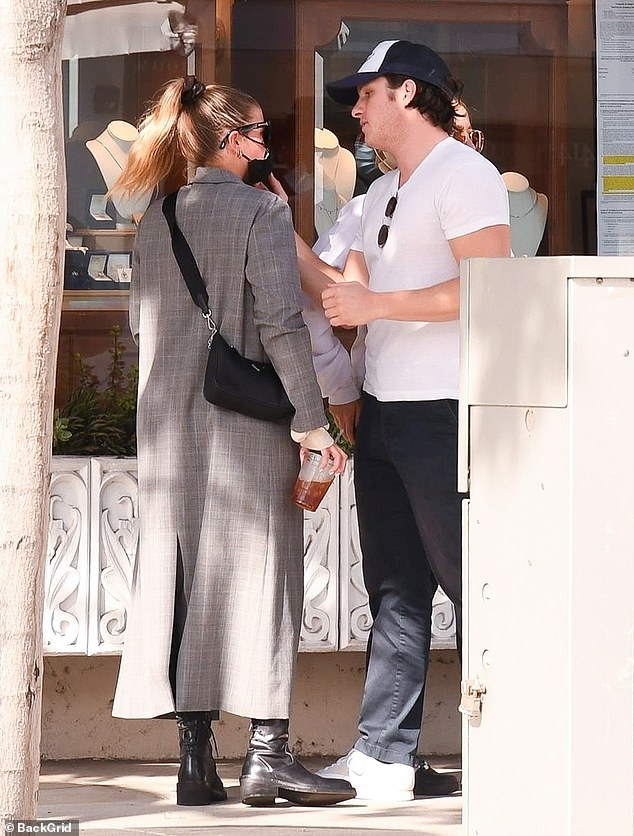 Cozy:Sofia Richie and her entrepreneur beau Matthew Morton, 27, looked ultra cozy as they grabbed lunch with pals in Beverly Hills on Friday afternoon