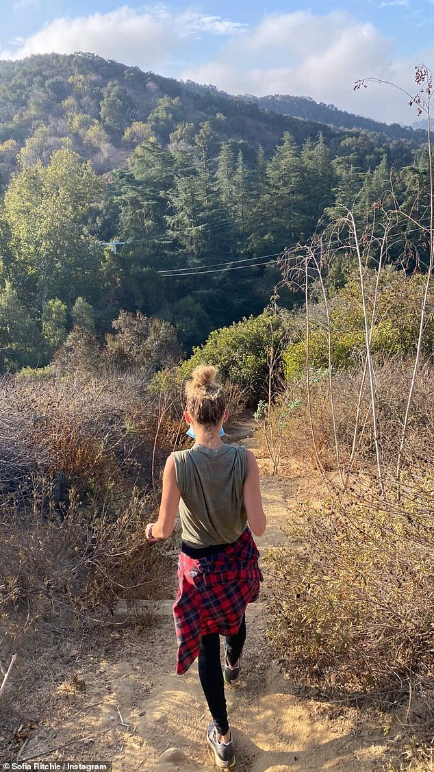 Early riser:Prior to her lunch outing with Matthew and their pals, Sofia embarked on an early morning hike with her half-sister Nicole Richie, 39