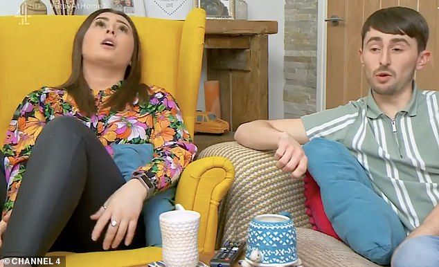 Upsetting:On Friday's episode of Gogglebox, Sophie, who appears alongside her brother Pete, broke down in tears as she watched the news