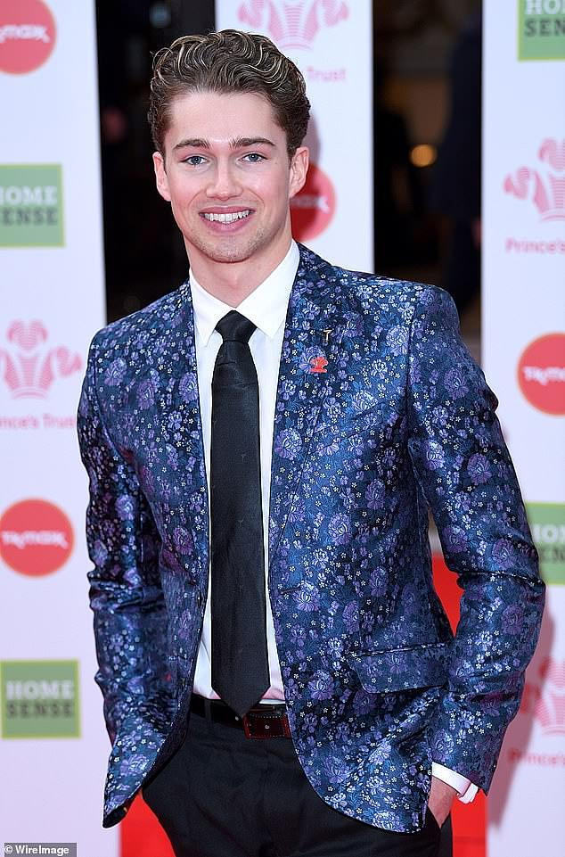 Still big bucks: AJ Pritchard, 26, who quit his role on Strictly Come Dancing last year, will bag the lowest wage of £50,000, the same base rate as Strictly pro