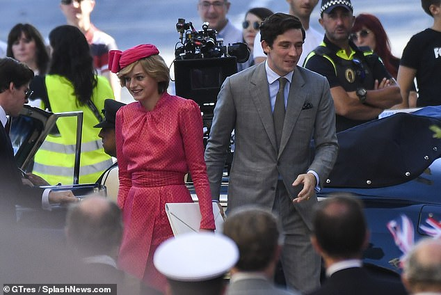 In character: Emma also said that she and her co-star Josh O'Connor (right), carefully studied footage of the young couple's trip capture their essence