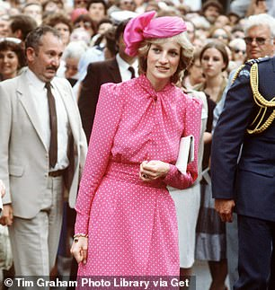 Clever tricks: Instead of travelling to Australia, the series substituted it for locations around Spain, thanks to clever digital effects. Pictured right is Princess Diana after visiting Freemantle Hospital, in Perth, in 1983