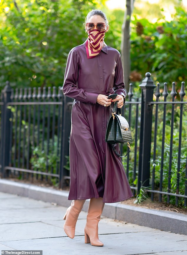 Fashion forward:Olivia Palermo proved her longevity as a style icon on Friday afternoon as she strolled solo around New York City
