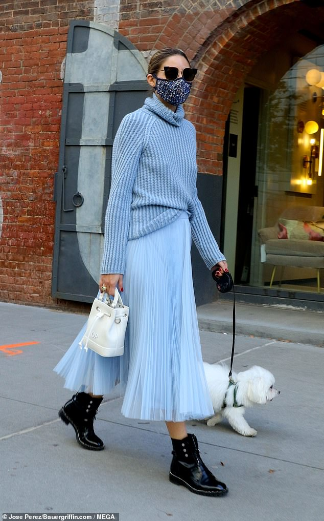 Insight:Palermo, who actively runs the lifestyle and fashion site OliviaPalermo.com, recently gave some insight into a monochromatic number she donned last month; Olivia pictured in October