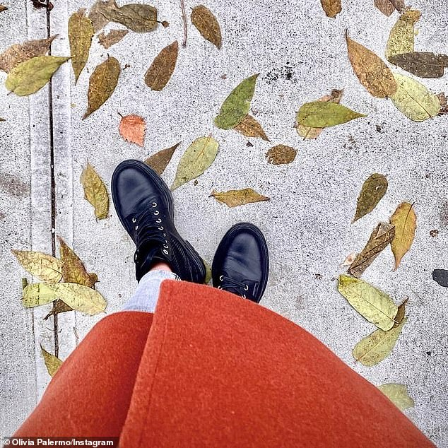 Fall vibes:Olivia also recently took to Instagram to express her excitement over finally being able to reach for her favorite fall pieces; Olivia pictured in October