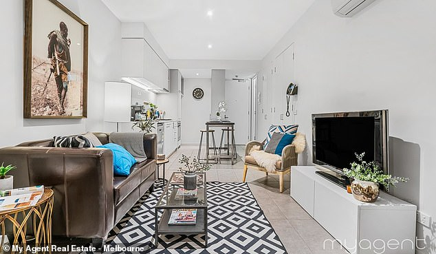 This is because monthly rental prices are more expensive than the average monthly mortgage repayment, meaning renters aren't getting bang for their buck (pictured, apartment in Notting Hill)