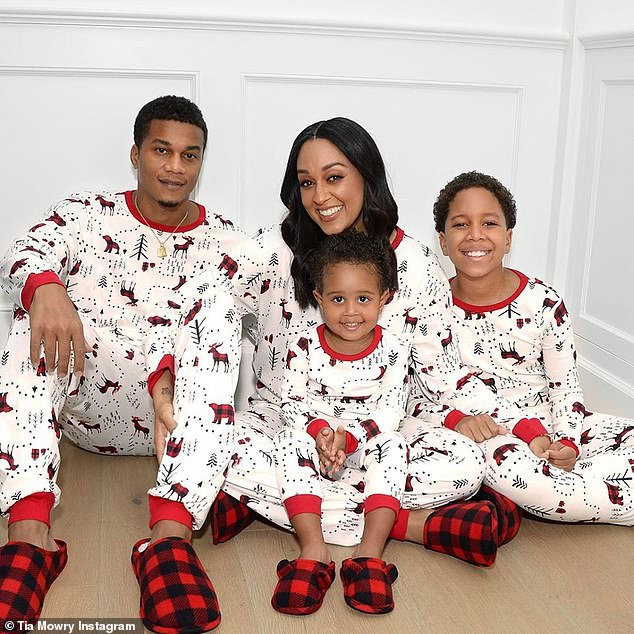 Family matters: The actress has been married to her husband Cory Hardrict for 12-years, and are the proud parents of son Cree, 9 and daughter Cairo, two,