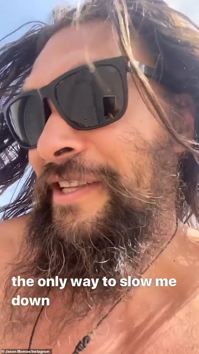 Broken down: Jason Momoa, 41, suffered the mild setback while on a road trip through the desert in September when his car broke down on a busy interstate
