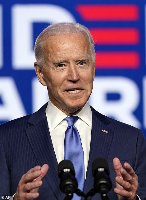 Biden's currently on the cusp of winning the presidency with his 28,000-vote lead in Pennsylvania, worth 20 electoral points