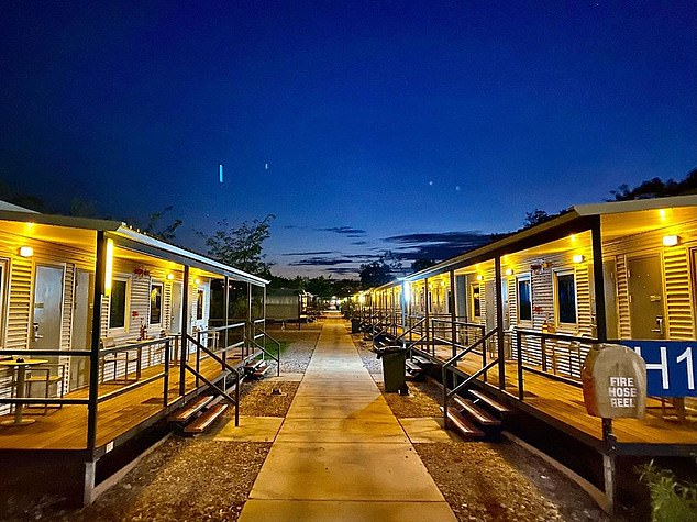 The Manigurr-ma Village in Howard Springs is split into two sides with international and domestic arrivals quarantining in demountable cabins