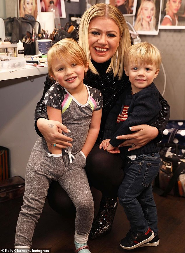 Mama bear: Clarkson said: 'I usually talk about everything but in this case I will talk a little bit here and there about how it affects me personally, but probably won't go too far into it because I'm a mama bear and my kids come first'