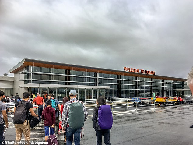 Tasmania is the latest state to join the national effort to repatriate Australians stranded overseas (Pictured: Hobart Airport)