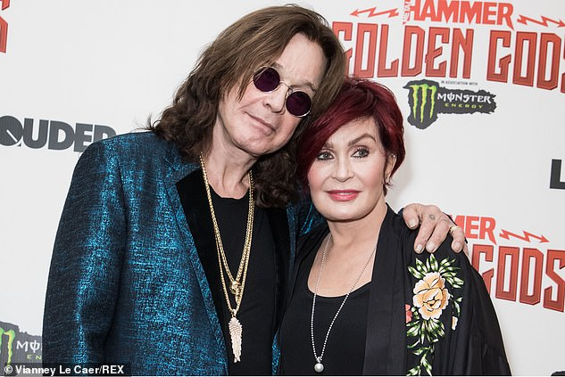 Fiery: Sharon married the rocker, 71, in 1982 and has been vocal about the ups and downs of their marriage previously (pictured in 2018)