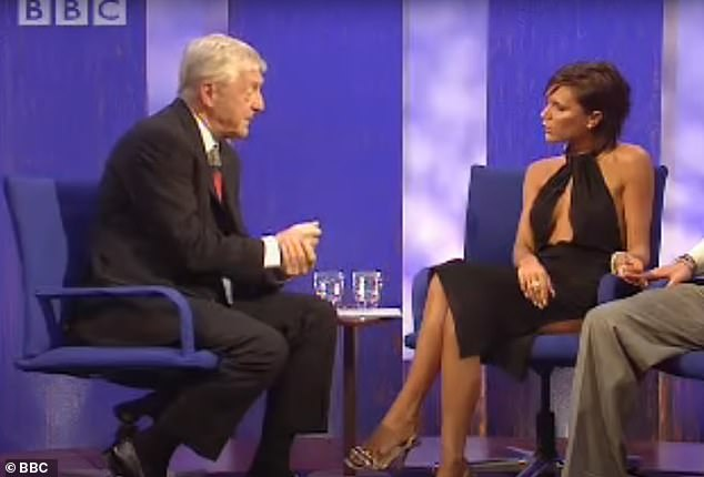 Stars:Over the years, Sir Michael has interviewed many names of great note.In 2001, Victoria Beckham (right) famously revealed in an interview that she called her husband David Beckham 'golden balls' at home