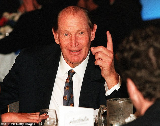 Strong aura: Sir Michael also had kind words for late Australian billionaire media tycoon Kerry Packer (pictured). 'Kerry Packer was extraordinary. He looked great and powerful and spoke well,' the TV icon told the magazine