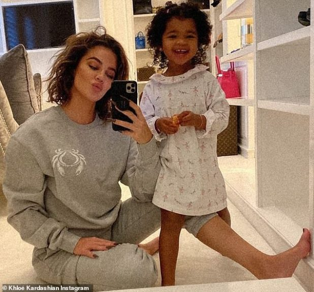 Baby Mary: Khloé Kardashian rocked a storm with her two-year-old daughter True on her Insta message on Saturday