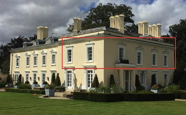 The six windows Sir Rod wanted to replace are on the first floor of an extension to Durrington House, which was added in 1860