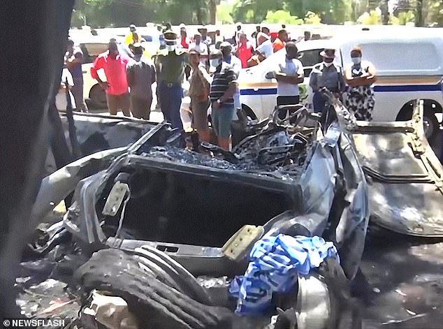 Witnesses said Kadungure, also known as Ginimbi, was thrown from his vehicle while the other three were trapped inside as it caught fire.