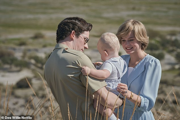 Down Under: Emma, who plays the late People's Princess, shares many scenes with Josh and an infant actor who plays their firstborn, Prince William