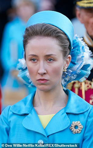 Not long to wait!  Fans of The Crown are eagerly awaiting the release of series four (Photo: Erin as Princess Anne in Season 3)