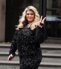 Gemma Collins looks every inch the diva in sequin jumpsuit