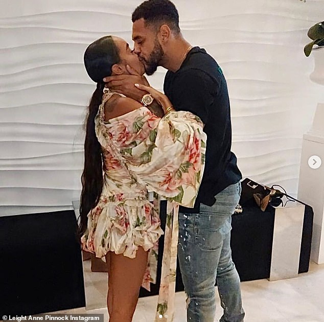 Candid:The happy couple, who started dating in 2016, announced their engagement while celebrating their fourth anniversary as a couple over the summer